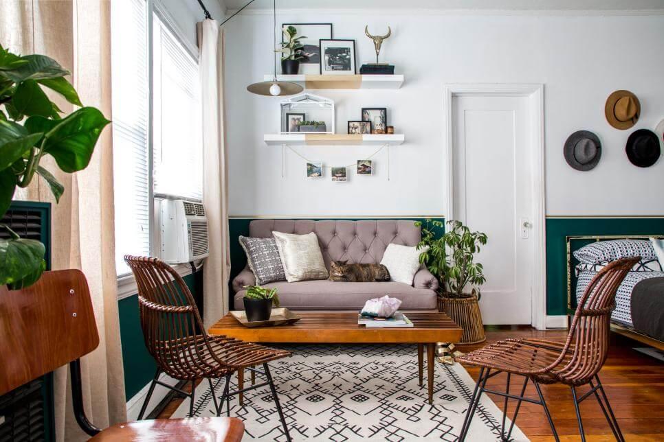 Thiết kế căn hộ Studio dành cho người độc thân.