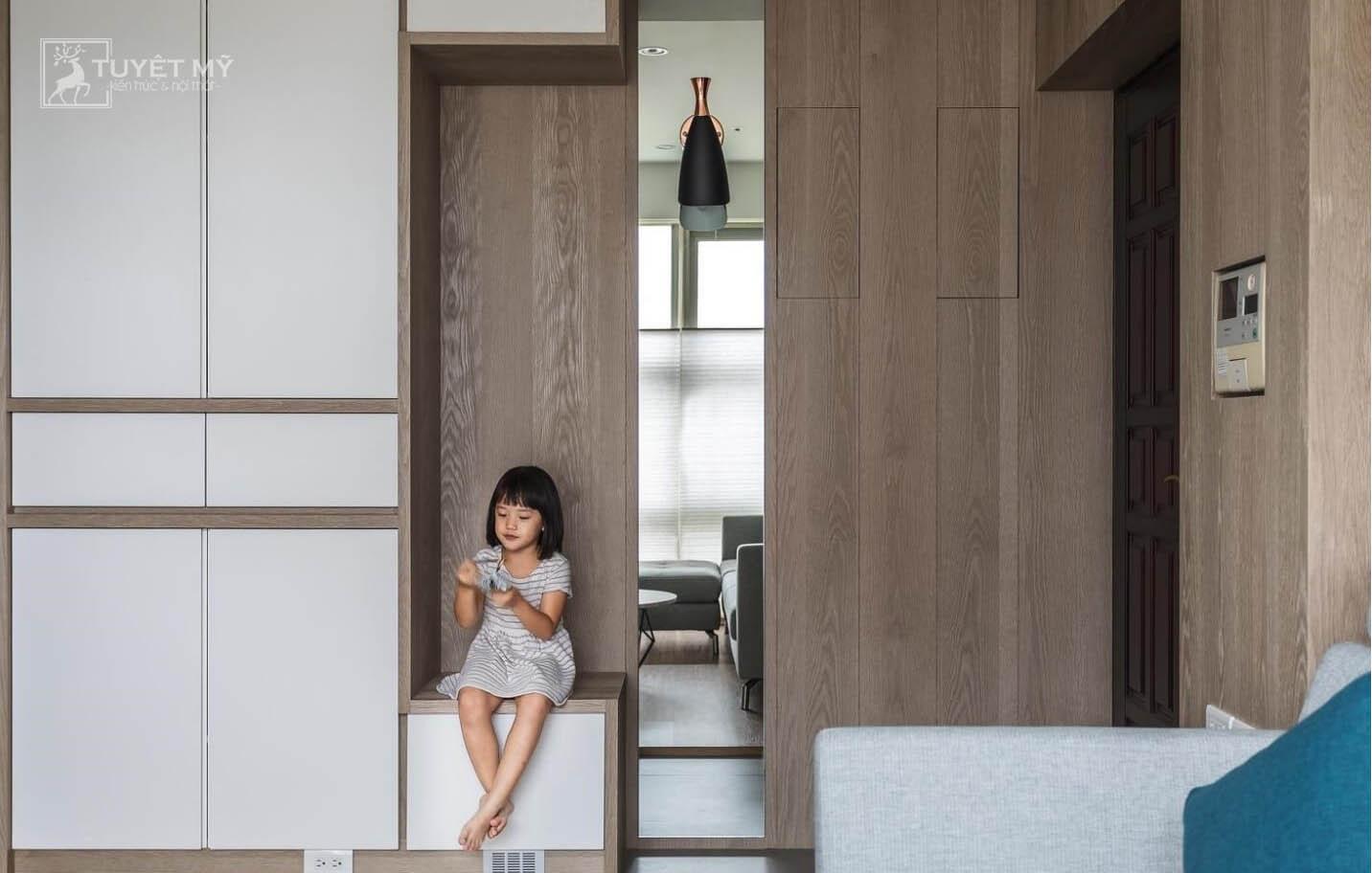 Thiết kế nội thất hiện đại chung cư 75 m2 khiến nhiều người mê mẩn