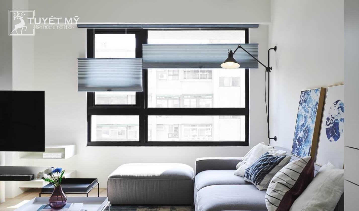 Thiết kế nội thất hiện đại chung cư 70 m2 kết hợp với phong cách Retro